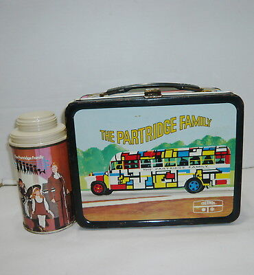 Vintage 1970's The Partridge Family Metal Lunchbox & Thermos
