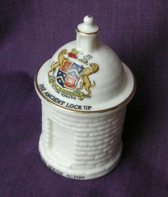 Arcadian Crested China. The Round House Alton. Matching Crest. (Rare Example)
