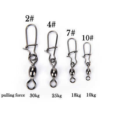 10x Crane Fishing Swivel With Nice Safe Snap Size 4 Size Fishing Tackle Pop