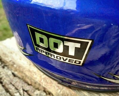 2 CHROME DOT Approved Motorcycle Helmet Stickers | Decals | D.O.T. Helmets CBR