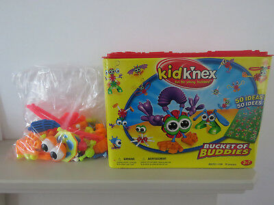 Kid K'nex Bucket of Buddies Set In Original Carry Box With Instructions Complete