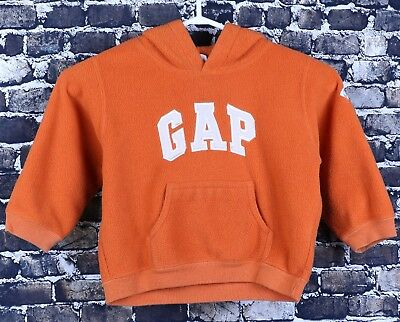 Baby Gap Pull Over Orange Hoodie Sweater Size 3XL Kids Arm Patch Casual Warm