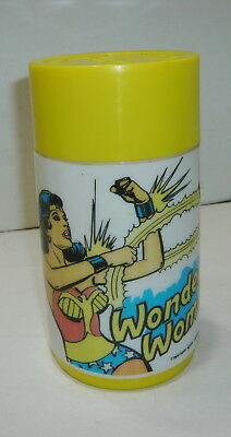 Vintage 1977 Aladdin Wonder Woman Plastic Thermos