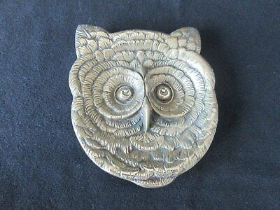 Rare W.tonks & Son Brass Owl Ashtray