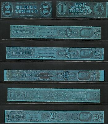 7 Usir Tobacco Stamps Series Of 110 And 111