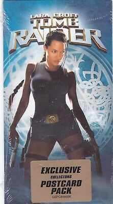 Lara Croft in Tomb Raiders - Angelina jolie actress- new postcards- pack of 2