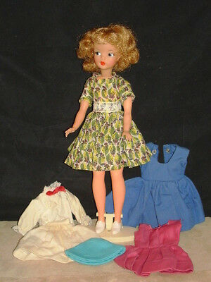 1960s Tammy Doll with Extra Outfits, Shoes & Stand Ideal Toy Corporation VGC NR