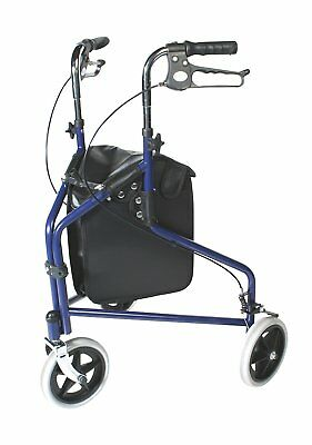 Large Black Vinyl Bag for Patterson Medical Tri Wheeled Walkers