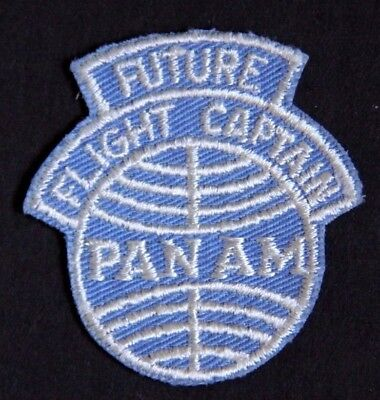 Panam Airlines Future Flight Captain  Patch Junior Kiddie Wings Badges Pins