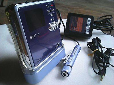 Sony MZ-RH10 Hi-MD Minidisc +Backlit Remote+Cradle+Charger (Non-working OLED)