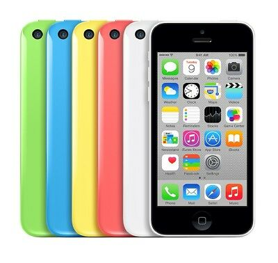 Apple iPhone 5C 8GB 16GB 32GB Sim Free White/Pink/Green/Blue/Yellow Warranty