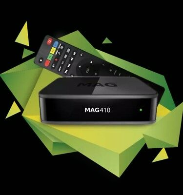 MAG 410 IPTV Set Box Android 6.0 UHD 4K and HEVC support Built-in Wi-Fi 2GB/8GB