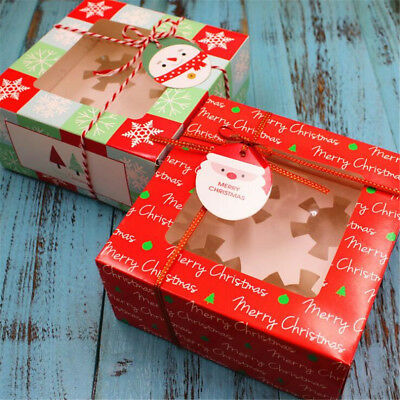 2pcs Christmas Cupcake Boxes For 4 Cakes With Removable Insert  Without Ribbons