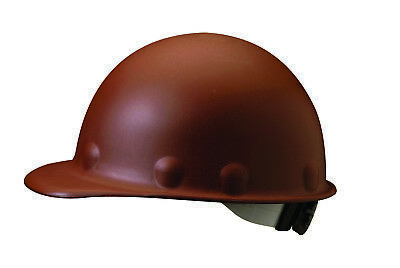 Fibre-Metal Roughneck Cap Style Hard Hat with 8 Point Ratchet Suspension, Brown
