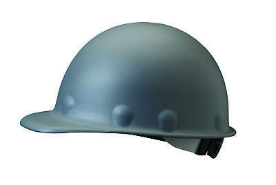 Fibre-Metal Roughneck Cap Style Hard Hat with 8 Point Ratchet Suspension, Gray