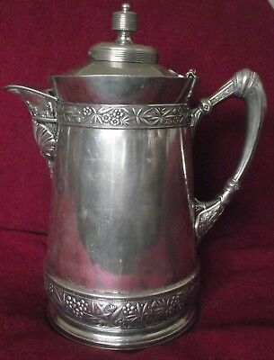 Victorian Era Antique Wilcox Silver Plate Co #387 Insulated Water Pitcher Server