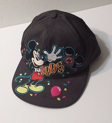 Mickey Mouse 1995 New Years Hat Cap Snapback Walt Disney World Collectible