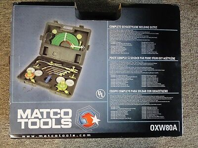 MATCO - OXW80A - Gas Welding and Cutting Kit - Oxygen Acetylene Torch - NO RES