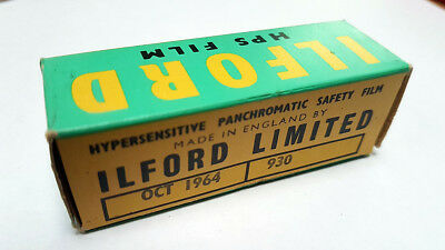Ilford Hps Film 620 Hypersensitive Panchromatic Safety Oct 1964 Neuf/unsealed