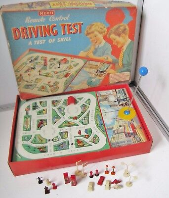 Vintage 1955 Remote Control * DRIVING TEST * Game A Test of Skill by MERIT