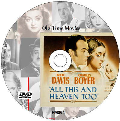 All This, and Heaven Too - Bette Davis, Charles Boyer Film DVD 1940