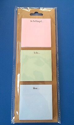 Magnetic Post It Notes - Plain ~ New