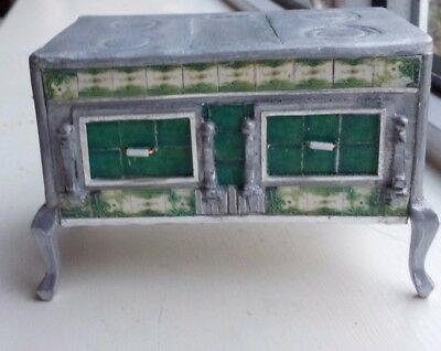 """dolls house french stove """" tiles """" vintage"""