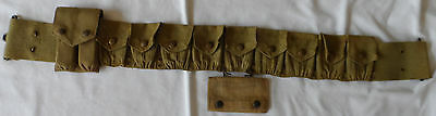 WWI US Army Model 1903 Cartridge Belt with Rimless Eagle Snaps with Pouches