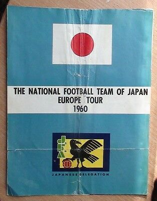 Tour programs from Europe national team Japan 1960