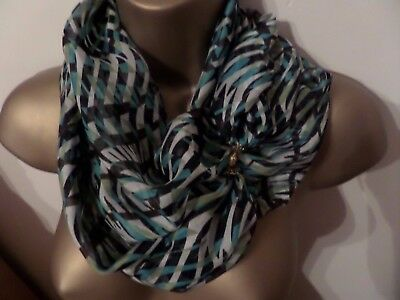 100% Silk Scarf With Magnetic Clasp/fastener