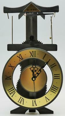 Interesting Vintage Wooden Cog Mechanical Flying Pendulum Mystery Mantle Clock