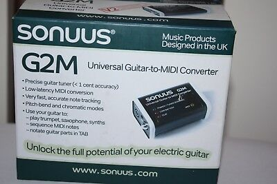 Sonuus G2M Universal Guitar to Midi Converter V2, VGC, Original Box, Battery Inc