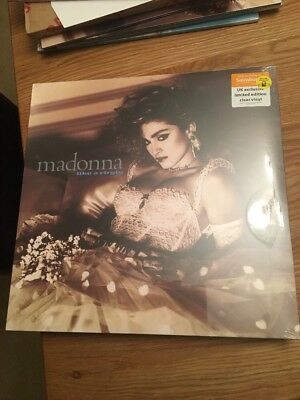 Madonna Like A Virgin Limited Edition UK Clear Vinyl