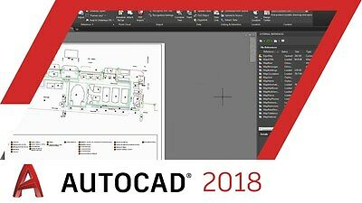 AutoDesk AutoCAD 2018 - 3 Year License - Windows 7/8/10 Operating systems