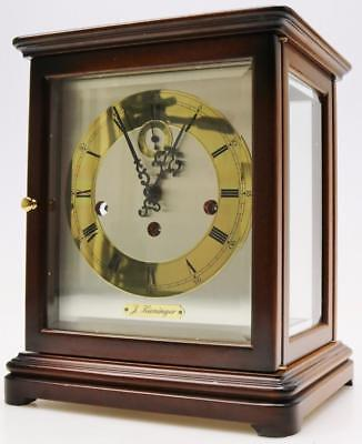 Vintage Kieninger 8 Day Mahogany & Glass Triple Chime Musical Bracket Clock