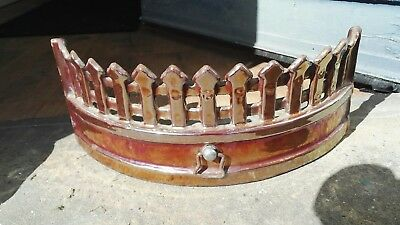 ♨ Vintage Lustreware Cast Iron Fire Front for fireplace