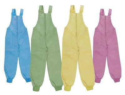 Boys Dungarees Zip Corduroy Trousers Girls Rope Belt 18 Months to 6 Years