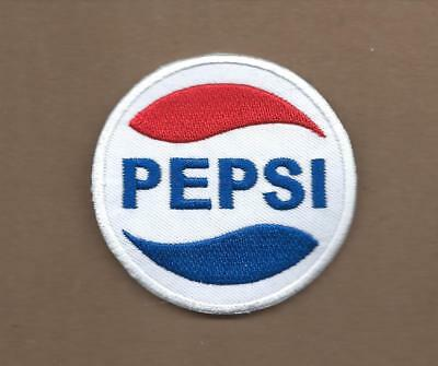 New 2 1/2 Inch Pepsi Cola Iron On Patch Free Shipping