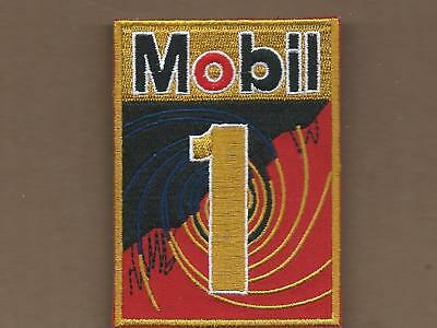 New 2 5/8 X 3 1/2 Inch Mobil 1 Oil Iron On Patch Free Shipping