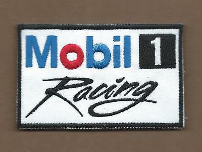 New 2 5/8 X 4 Inch Mobil 1 Racing Iron On Patch Free Shipping