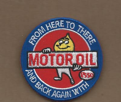 New 3 Inch Esso Motor Oil Iron On Patch Free Shipping