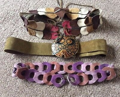 Belts, Leather, Woman's X 3