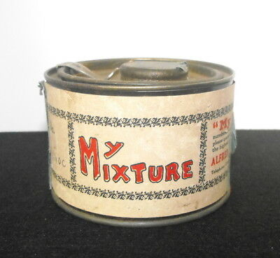 Vintage Alfred Dunhill My Mixture Tobacco Tin w/ Paper Label - Rare Size Tin