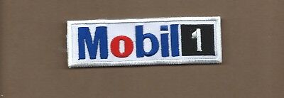 New 1 3/8 X 4 5/8 Inch Mobil 1 Motor Oil Iron On Patch Free Shipping