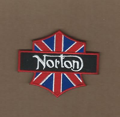 New 3 X 3 1/2 Inch Norton Shield Iron On Patch Free Shipping