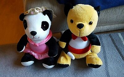 "11"" sooty and sue soft plush toys"