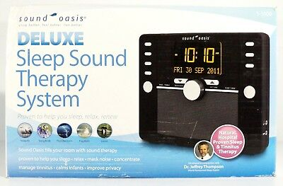 New Sound Oasis S-5000 Deluxe Sleep Sound Therapy System 145 Sounds Black
