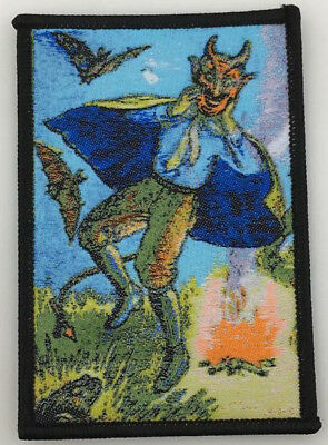PATCH - Dancing DEVIL (woven) - Horror / Halloween, Samhain, Occult, Pagan