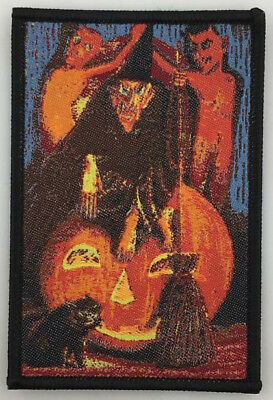 PATCH - WITCH (woven) - Horror / Halloween, Devils, Jack-o-Lantern, Black Cat