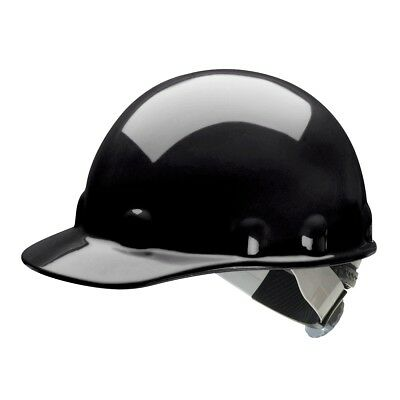Fibre-Metal Cap Style Hard Hat with SwingStrap Ratchet Suspension, Black